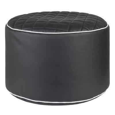 Belwood Pouf Ottoman Upholstery: Black