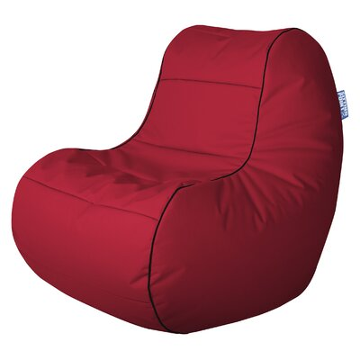 Chillybean Scuba Bean Bag Chair Color: Red
