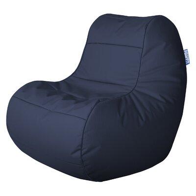 SittingPoint Chillybean Scuba Bean Bag Chair - Color: Navy