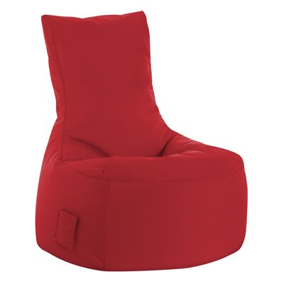 Swing Brava Bean Bag Chair Upholstery: Red