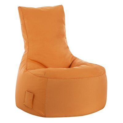 Swing Brava Bean Bag Chair Upholstery: Orange