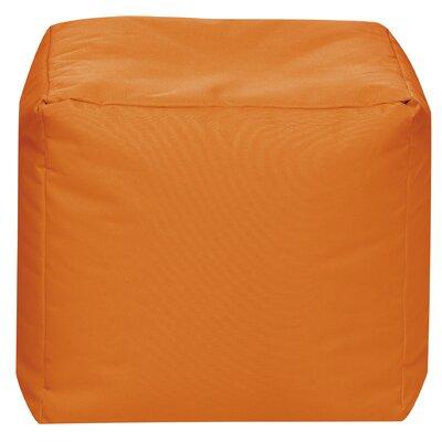 Cube Pouf Ottoman Upholstery: Orange