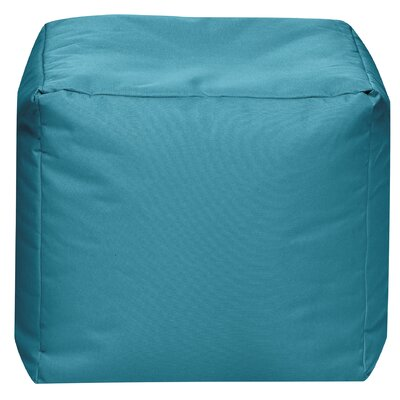 Cube Pouf Ottoman Upholstery: Turquoise