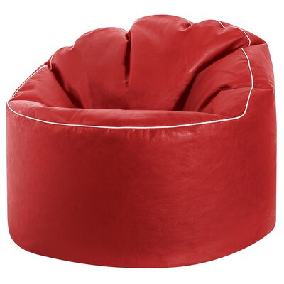 Tube Cosy Bean Bag Chair Upholstery: Red