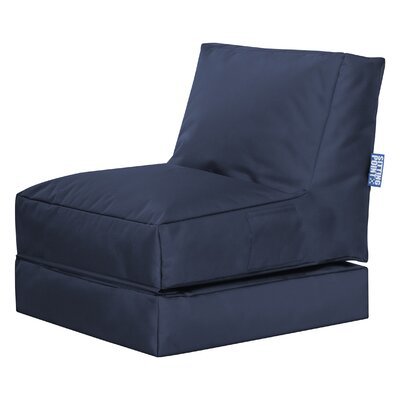 Twist Brava Convertable Bean Bag Lounge Color: Navy