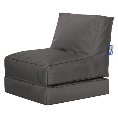 Twist Brava Convertable Bean Bag Lounge Color: Gray