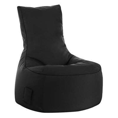 Swing Brava Bean Bag Chair Upholstery: Black