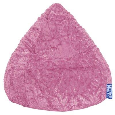 Fluffy Bean Bag Chair Upholstery: Pink