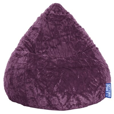 Fluffy Bean Bag Chair Upholstery: Purple