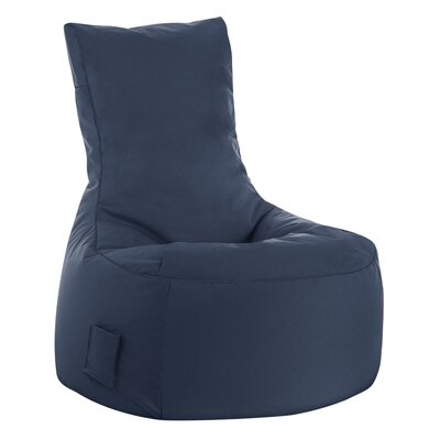 Swing Brava Bean Bag Chair Upholstery: Navy