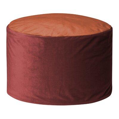 Jeannette Round Ottoman Upholstery: Marsala