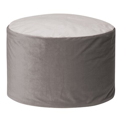Jeannette Round Ottoman Upholstery: Gray