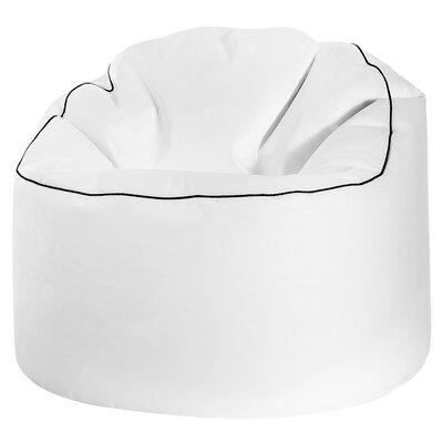 Tube Cosy Bean Bag Chair Upholstery: White
