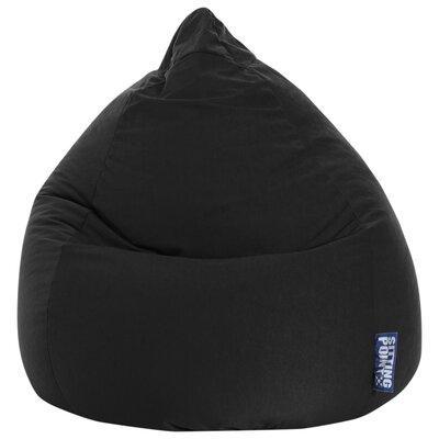 Microfiber Fabric Bean Bag Chair Upholstery: Black
