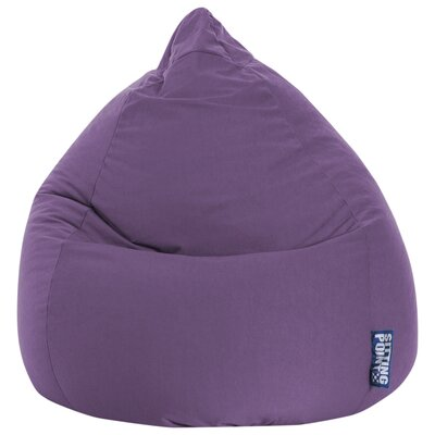 Microfiber Fabric Bean Bag Chair Upholstery: Purple