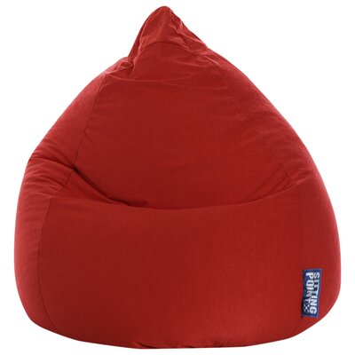 Microfiber Fabric Bean Bag Chair Upholstery: Red