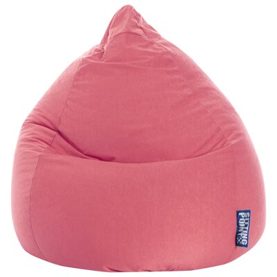 Microfiber Fabric Bean Bag Chair Upholstery: Pink