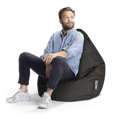 Brava Bean Bag Chair Upholstery: Black