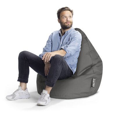 Brava Bean Bag Chair Upholstery: Gray