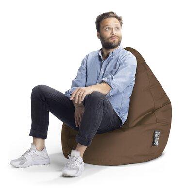 Brava Bean Bag Chair Upholstery: Brown