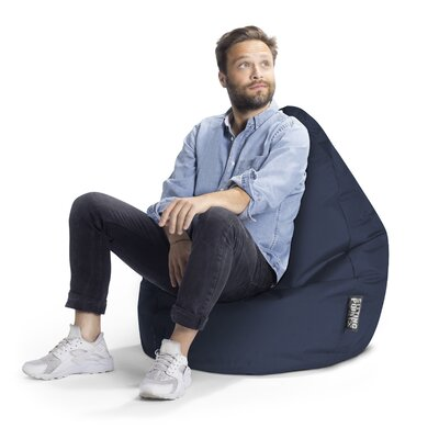 Brava Bean Bag Chair Upholstery: Navy