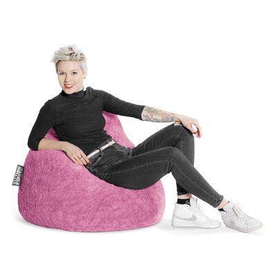 Fluffy Bean Bag Chair Upholstery: Pink