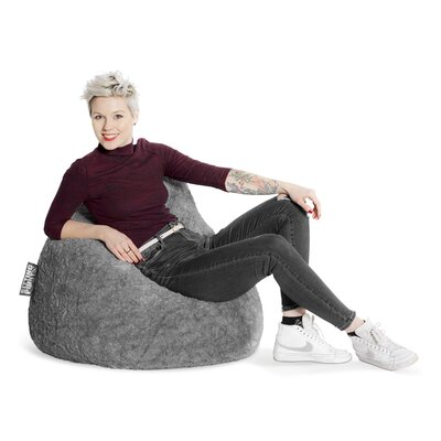 Fluffy Bean Bag Chair Upholstery: Gray