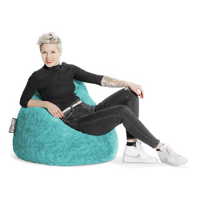 Fluffy Bean Bag Chair Upholstery: Turquoise