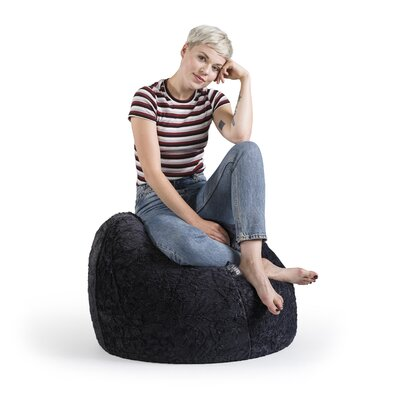 Fluffy Bean Bag Chair Upholstery: Black
