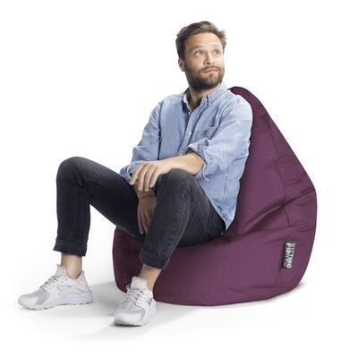 Brava Bean Bag Chair Upholstery: Purple