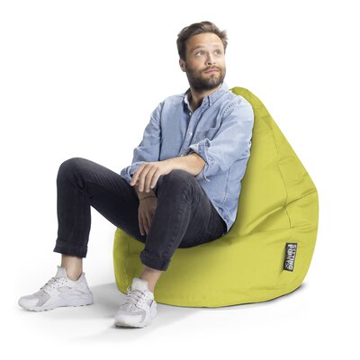 Brava Bean Bag Chair Upholstery: Lime