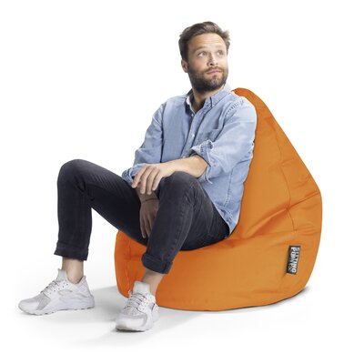 Brava Bean Bag Chair Upholstery: Orange