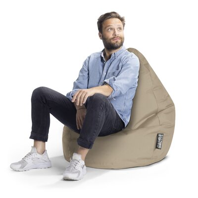 Brava Bean Bag Chair Upholstery: Khaki