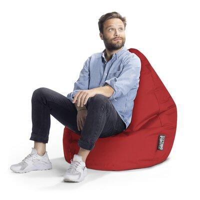 Brava Bean Bag Chair Upholstery: Red