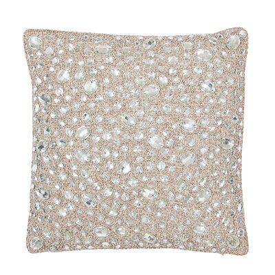 Jute with Stone Throw Pillow