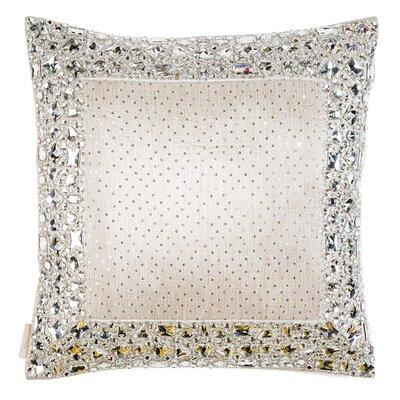Necklace Border on Silk Throw Pillow