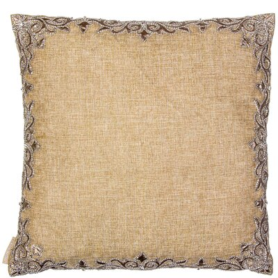 Leather Work on Linen Throw Pillow