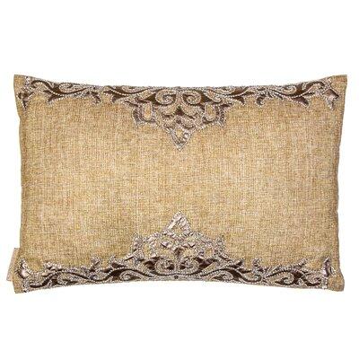 Leather Patchwork on Linen Lumbar Pillow