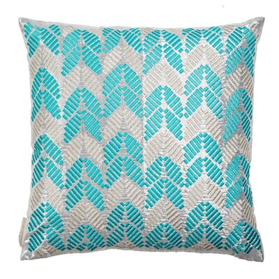Hand Embroidered Leaves Throw Pillow