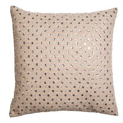 Crystal Drizzle on Burlap Linen Throw Pillow