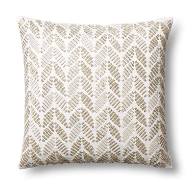 Leaves Cut Stones Silk Throw Pillow