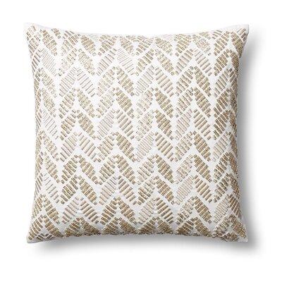 Bracewell Leaves Cut Stones Silk Throw Pillow