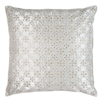 Breton Crystal Intersection Silk Throw Pillow
