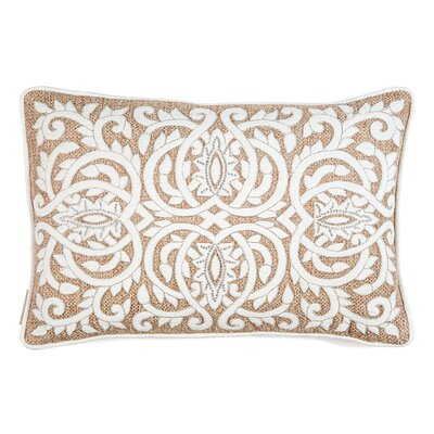 Edmee Thread Embroidery with Shimmer Lumbar Pillow