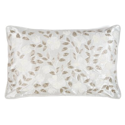 Embroidered Garden Lumbar Pillow