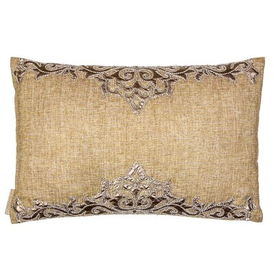 Mesh Sultan Shimmer Border Linen Lumbar Pillow