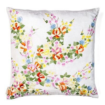 Paisley Flowers Silk Throw Pillow