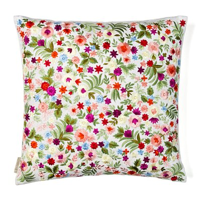 Flowers Silk Throw Pillow