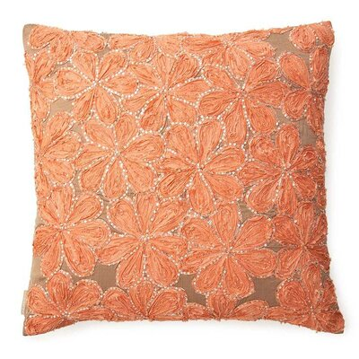 Flower Throw pillow Color: Peach