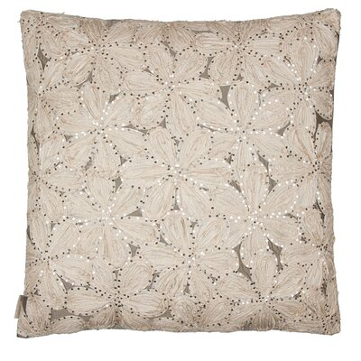 Flower Throw pillow Color: Ecru